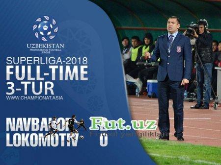 """Superliga. """"Navbahor"""" o'z maydonida """"Lokomotiv""""ni taslim qildi"""