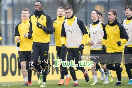"""Useyn Bolt Dortmundning """"Borussiya""""si bilan mashg'ulot o'tkazmoqda FOTOGALEREYA"""
