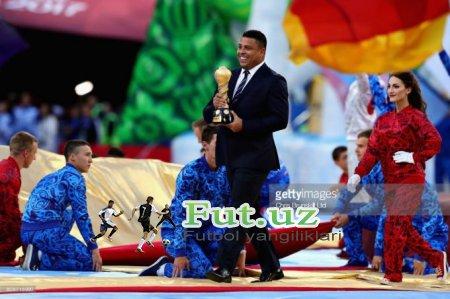 """Ronaldo: """"JCH-2018ning asosiy favoriti - Braziliya. Ispaniya finalda mag'lub bo'ladi"""""""