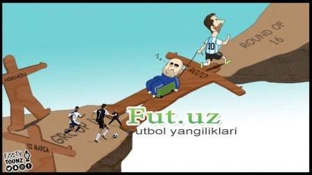 Nigeriya - Argentina uchrashuviga bag'ishlangan karikatura