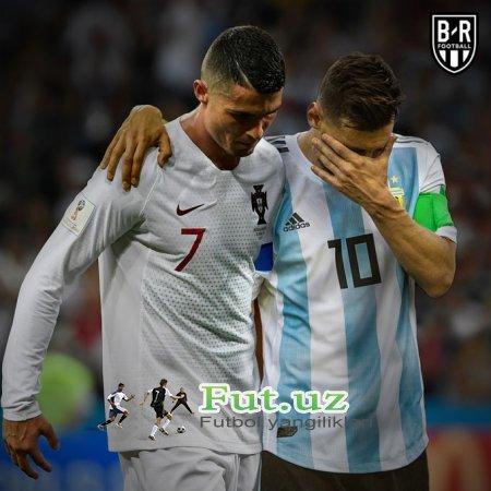 FOTO. Ronaldu va Messi JCH-2018ni tark etishdi