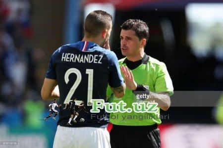 JCH-2018. Franciya va Belgiya o'rtasidagi yarim final o'yinini boshqaradigan hakamlar elon qilindi