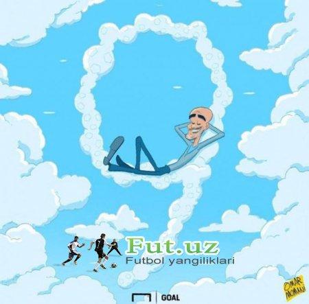 Omar Momanidan yangi karikatura: Gvardiola jamoasi 9 gol urdi