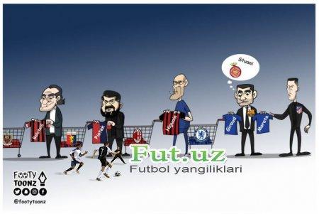Karikatura: Transferlar oynasida hujumchilar almashinuvi yuzaga kelmoqda
