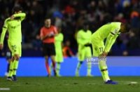 """Ispaniya kubogi. """"Barselona"""" 1/8 finalning ilk o'yinida mag'lub bo'ldi"""